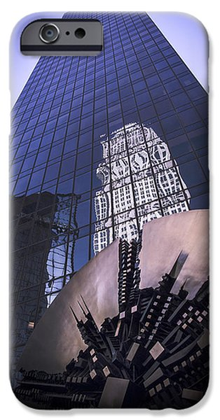 Uptown Charlotte iPhone Cases - Omni Reflection iPhone Case by Paul Scolieri