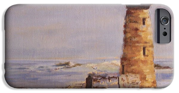 Maine iPhone Cases - On A Clear Day iPhone Case by Alicia Drakiotes