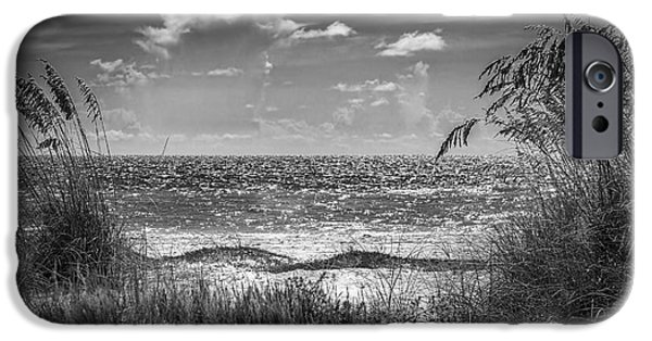 Sand Dunes iPhone Cases - On A Clear Day-bw iPhone Case by Marvin Spates