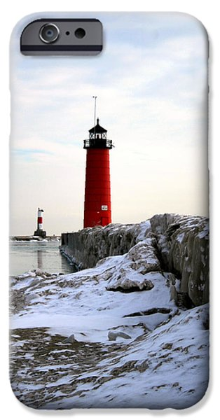 Chicago iPhone Cases - On A Cold Winters Morning iPhone Case by Kay Novy
