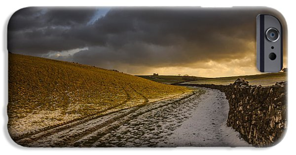 Barns iPhone Cases - On a country walk at sunset iPhone Case by Chris Fletcher
