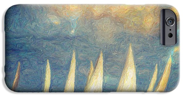 Sailing Paintings iPhone Cases - On a day like today  iPhone Case by Taylan Soyturk