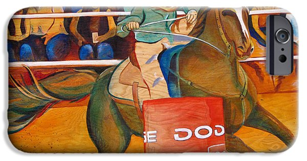 Barrel Paintings iPhone Cases - On a dime iPhone Case by Joshua Morton