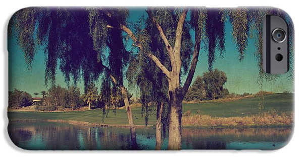 Lone Tree iPhone Cases - On a Lazy Afternoon iPhone Case by Laurie Search