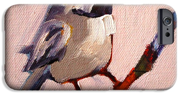 White Bird iPhone Cases - On a Limb iPhone Case by Nancy Merkle
