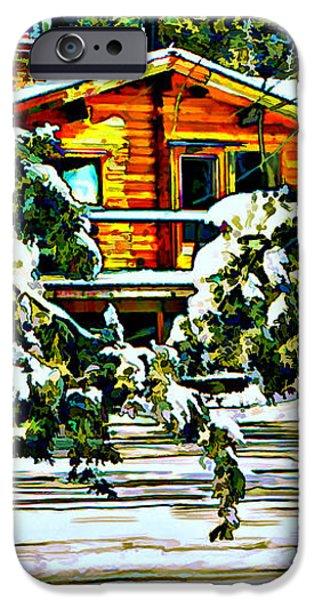 On a Winter Day iPhone Case by Steve Harrington