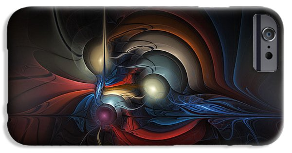 Abstract Expressionism Digital iPhone Cases - On Air iPhone Case by Karin Kuhlmann