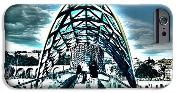 Tbilisi Photographs iPhone Cases - On Another Bridge iPhone Case by Rabiri Us