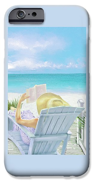 Recently Sold -  - Santa iPhone Cases - On Beach Time iPhone Case by Jane Schnetlage