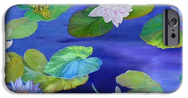 Flying Frog iPhone Cases - On Big Fresh Pond iPhone Case by Kimberly McSparran