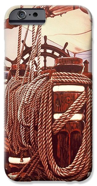Sailboat Ocean iPhone Cases - On Deck iPhone Case by James Welch