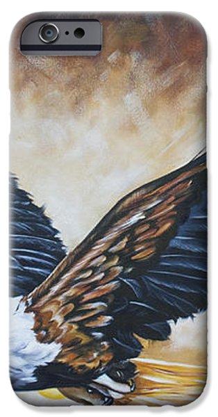 On Eagle's Wings iPhone Case by Ilse Kleyn
