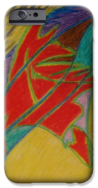 Escape Pastels iPhone Cases - On Edge iPhone Case by Melody Cook