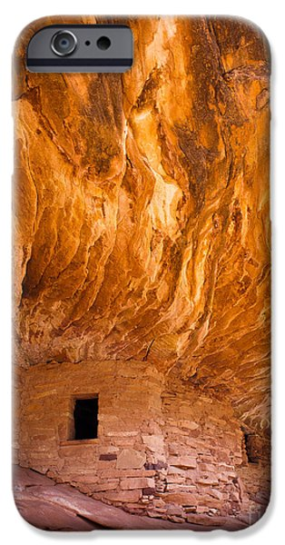 Red Rock iPhone Cases - On Fire iPhone Case by Inge Johnsson
