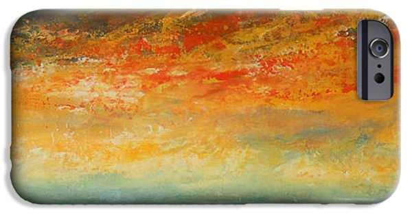 Abstract Seascape iPhone Cases - On Fire iPhone Case by Jane See