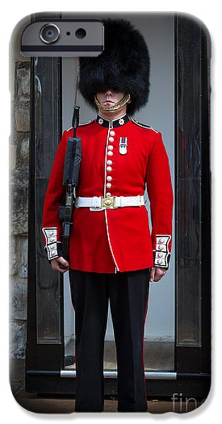 Britain iPhone Cases - On Guard iPhone Case by Inge Johnsson