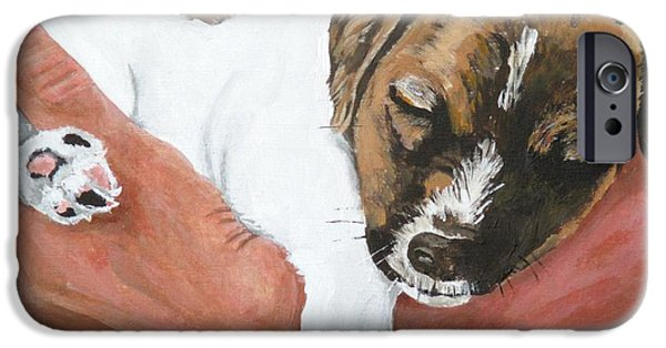Puppies iPhone Cases - On Guard iPhone Case by Michael Dillon