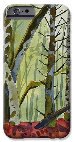 Paintings iPhone Cases - On Ivy Hill iPhone Case by Alexandra Schaefers