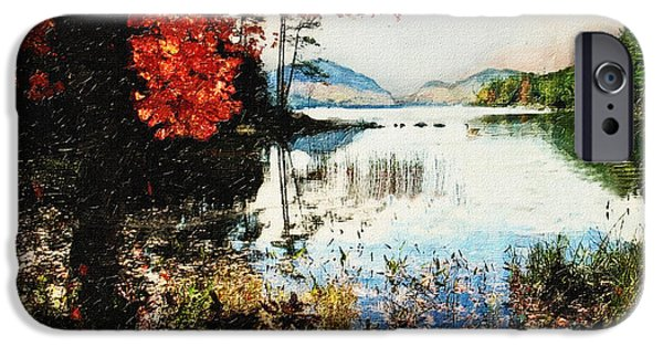Jordan iPhone Cases - On Jordan Pond iPhone Case by Lianne Schneider