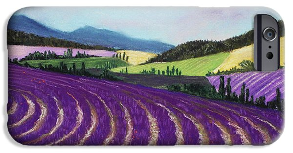 Florals Pastels iPhone Cases - On Lavender Trail iPhone Case by Anastasiya Malakhova