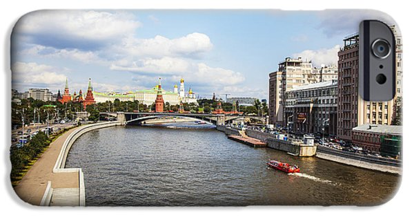 Moscow iPhone Cases - On Moscow River - Russia iPhone Case by Madeline Ellis