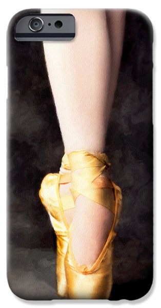 Ballet Dancers iPhone Cases - On Point iPhone Case by David Lawrence
