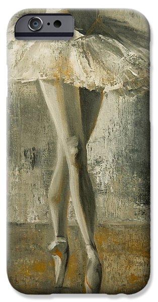 Ballet Dancers iPhone Cases - En Pointe iPhone Case by Jani Freimann