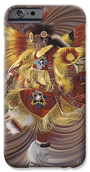 Dancer iPhone Cases - On Sacred Ground Series 4 iPhone Case by Ricardo Chavez-Mendez