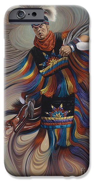 Earth Paintings iPhone Cases - On Sacred Ground Series II iPhone Case by Ricardo Chavez-Mendez