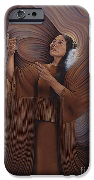 Earth Tone iPhone Cases - On Sacred Ground Series V iPhone Case by Ricardo Chavez-Mendez