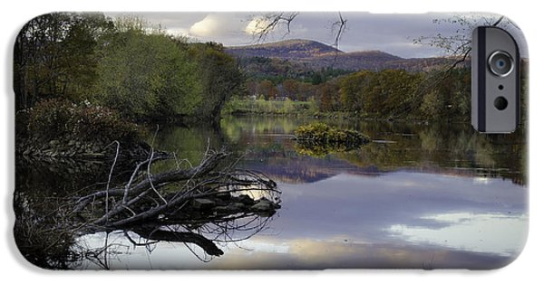 Androscoggin iPhone Cases - On the Androscoggin iPhone Case by Lisa Bryant