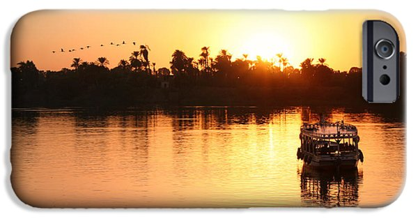 Karnak iPhone Cases - On the banks of the Nile.. iPhone Case by A Rey