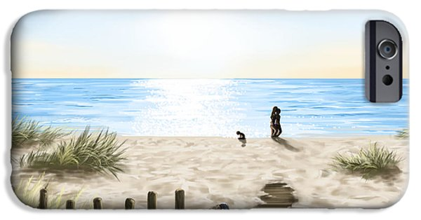 Ipad iPhone Cases - On the beach iPhone Case by Veronica Minozzi
