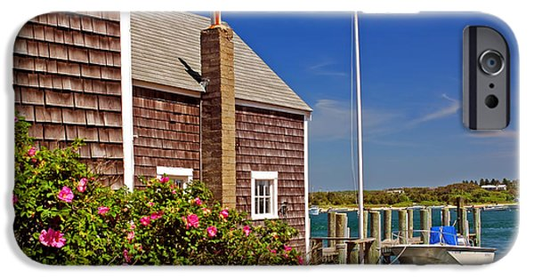 Clapboard House iPhone Cases - On the Cape iPhone Case by Joann Vitali