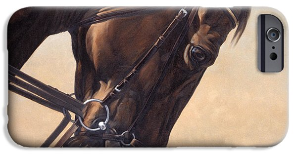 Equestrian iPhone Cases - On The Diagonal iPhone Case by JQ Licensing