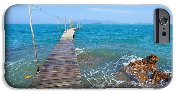 Sea Platform iPhone Cases - On the Dock iPhone Case by Alexey Stiop