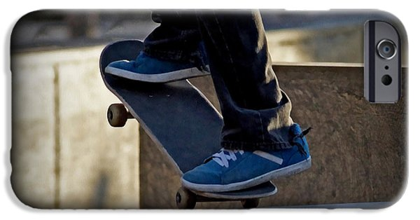 Skateboards iPhone Cases - On the Edge iPhone Case by Ernie Echols