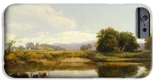 Hudson River iPhone Cases - On the Esopus  Meadow Groves iPhone Case by William Hart