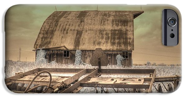 Old Barns iPhone Cases - On The Farm iPhone Case by Jane Linders