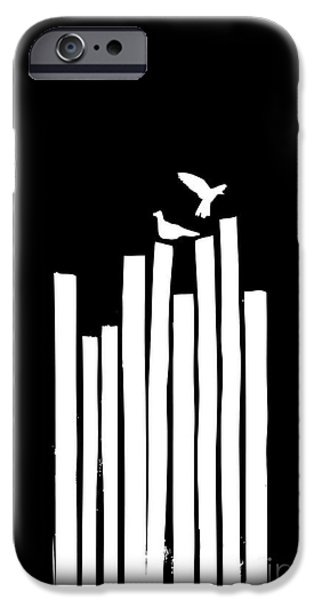 Black Digital Art iPhone Cases - On the Fence iPhone Case by Budi Satria Kwan