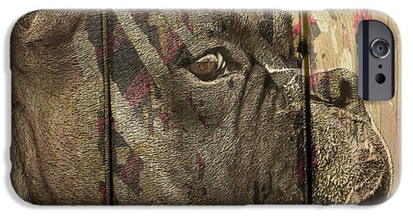 Boxer Dog iPhone Cases - On the Fence iPhone Case by Judy Wood