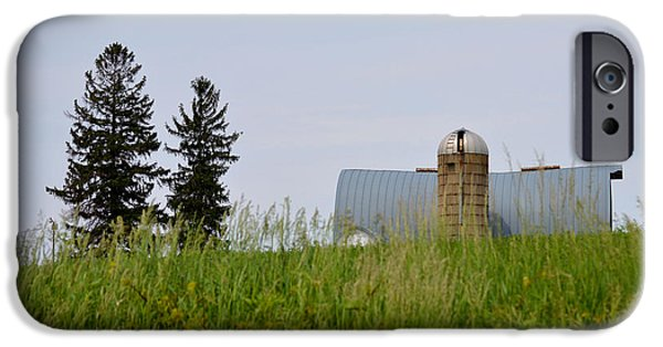 Old Barns iPhone Cases - On The Horizon iPhone Case by Renie Rutten