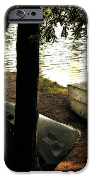 Canoe iPhone Cases - On the Island iPhone Case by Michelle Calkins