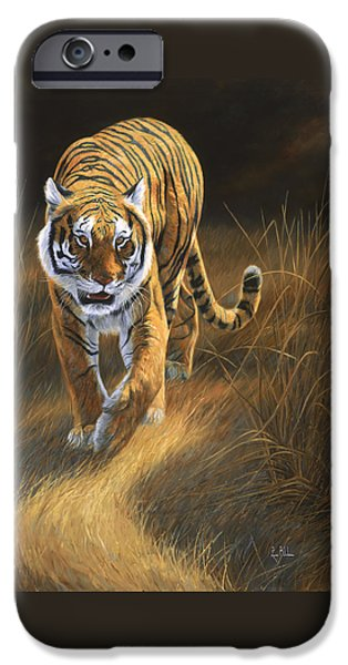 Bengal Tiger iPhone Cases - On The Move iPhone Case by Lucie Bilodeau