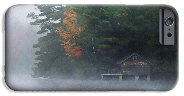 Recently Sold -  - Fog Mist iPhone Cases - On The Pond iPhone Case by Joy Nichols