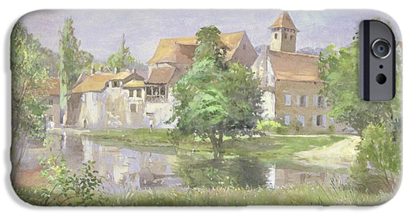 South West France iPhone Cases - On The River Lot, 1991 Wc iPhone Case by Tim Scott Bolton