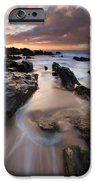 Ebb iPhone Cases - On the Rocks iPhone Case by Mike  Dawson