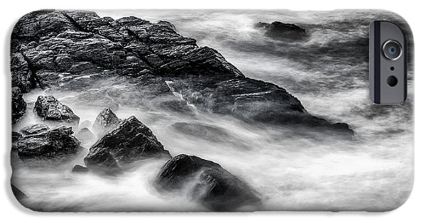 Nubble Lighthouse iPhone Cases - On the Rocks iPhone Case by Scott Thorp