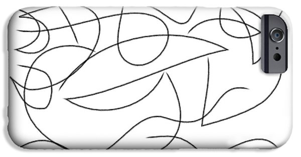Abstract Digital Drawings iPhone Cases - On the sea iPhone Case by Chani Demuijlder