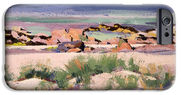 Colorist iPhone Cases - On the Shore  Iona  iPhone Case by Francis Campbell Boileau Cadell